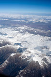 The Aerial photography, Tibet, the Himalayan Hengd Royalty Free Stock Photos