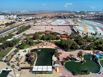 Aerial photography of Torrevieja town. Costa Blanca. Spain stock image