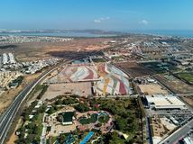 Aerial photography of Torrevieja town. Costa Blanca. Spain royalty free stock photography