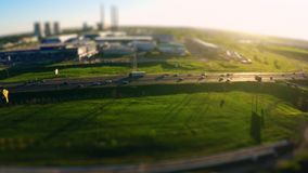Aerial photography of traffic in a large city stock footage