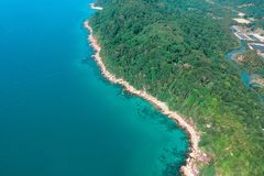 Aerial Photography of Trees Near Body of Water stock photo