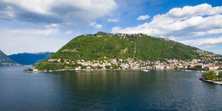 Aerial photography view of Como city and lake near Milan in Ital Stock Images