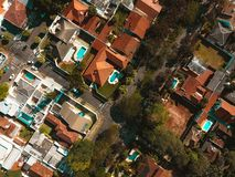 Aerial Photography of Village during Daytime Stock Photography