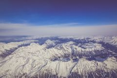 Aerial Photography Of White Mountains stock image