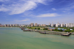 Aerial photography of the wuyuanwan bay Stock Image