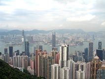 Aerial photogrpah of Hong Kong Royalty Free Stock Photography