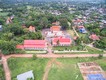 Aerial photos  Esan Thailand Temple Stock Images