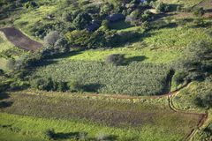 Aerial photos of overlooking Lewa Conservancy and lodging in Kenya, Africa Stock Photos