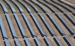 Aerial of photovoltaic panels Stock Images