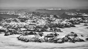 Aerial picture of the Andes mountain range, Chile.  Stock Photography