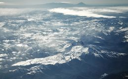 Aerial picture of the Andes mountain range, Chile.  Royalty Free Stock Photography