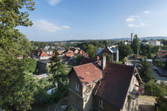 Aerial picture of Bolkow town in Poland Royalty Free Stock Image