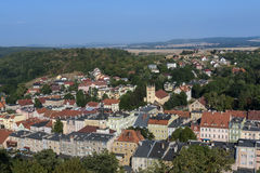 Aerial picture of Bolkow town in Poland Royalty Free Stock Photo