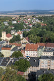 Aerial picture of Bolkow town in Poland Stock Photo