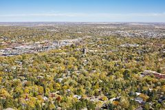 Aerial picture of Boulder City, Colorado, USA. Royalty Free Stock Images