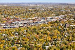 Aerial picture of Boulder City, Colorado, USA. Royalty Free Stock Photography