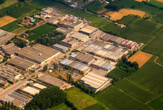 Aerial picture of factory Royalty Free Stock Photos