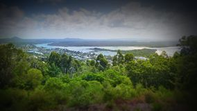 Aerial picture image of Noosa River from Lookout. Stock aerial photograph picture image of Noosa River from Lookout Royalty Free Stock Image
