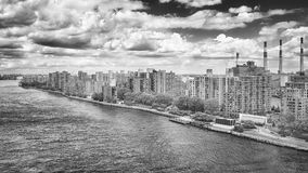 Aerial picture of the Roosevelt Island, New York. Stock Images