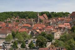 Aerial picture of Schwäbisch Hall royalty free stock photos