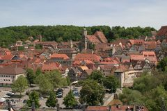 Aerial picture of Schwäbisch Hall Royalty Free Stock Photos