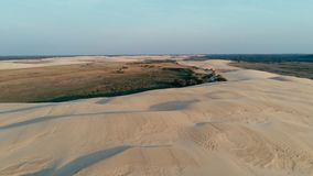 Aerial picture of some beautiful desert sand dunes. Santa Cruz, Bolivia - SEPT 5 2018: aerial picture of some beautiful desert sand dunes Stock Photography