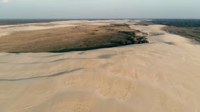 Aerial picture of some beautiful desert sand dunes. Santa Cruz, Bolivia - SEPT 5 2018: aerial picture of some beautiful desert sand dunes Royalty Free Stock Image