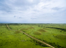 Aerial picture of West African Hills, Mountains of the Moon. Royalty Free Stock Photography