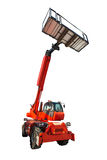 Aerial platform and construction lifting machine isolated on whi Royalty Free Stock Photography