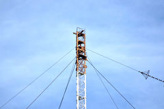 Aerial platforms for  transmission of radio waves Royalty Free Stock Photo