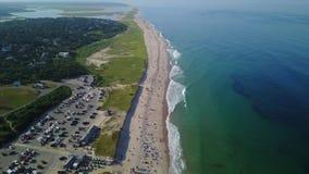 Aerial of Popular Beach on Cape Cod, MA