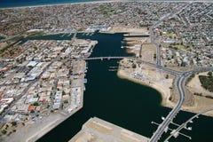 Aerial port adelaide city Stock Photos