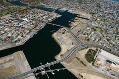 Aerial port adelaide docks Stock Photography