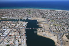 Aerial port adelaide docks Royalty Free Stock Photos