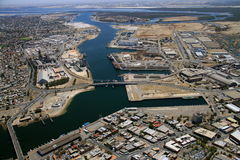Aerial port adelaide docks. Aerial of port adelaide docks Royalty Free Stock Photo