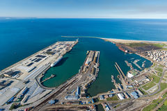 Aerial of Port Elizabeth harbour South Africa. Aerial view of Port Elizabeth harbour South Africa Stock Images
