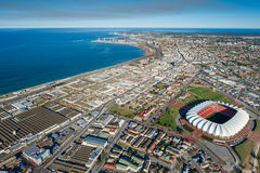 Aerial of Port Elizabeth South Africa. Aerial view of Port Elizabeth South Africa Stock Photos