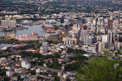Aerial Port louis Mauriitus Royalty Free Stock Photo