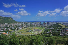 Aerial Port Louis Mauritius sykyline royalty free stock photos