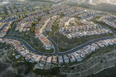 Aerial of Porter Ranch stock photos