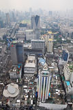 Aerial Portrait View Over Bangkok City, Thailand. Royalty Free Stock Photography