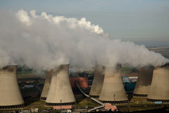 Aerial of Power Station royalty free stock photography