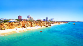 Aerial from Praia da Rocha in the Algarve Portugal Stock Image