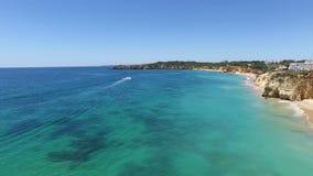 Aerial from Praia da Rocha in Portugal stock video