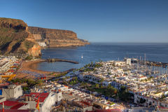 Aerial of Puerto de Mogan Gran Canaria Spain Royalty Free Stock Image
