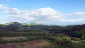 Aerial rainbow stock video