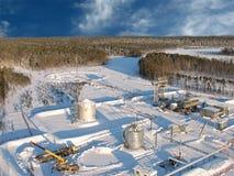 Aerial refinery 20 sky Stock Image