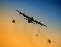 Aerial refueling operation Stock Images