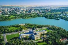 Aerial of Regina, Saskatchewan, Canada stock photos