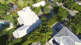 Aerial residential neighborhood in Hollywood Florida. Aerial video of a residential neighborhood stock video